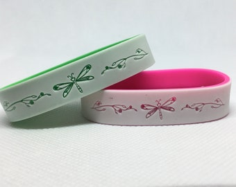 Dragonfly Bracelet with Emergency Contact Numbers, Dragonfly ID Bracelet, Dragonfly Phone Number Bracelet, Emergency ID Bracelet