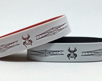 Spider Bracelet with Emergency Contact Numbers, Spider Band with Phone Numbers, Emergency Phone numbers, Personalized ID Bracelet, Spiders