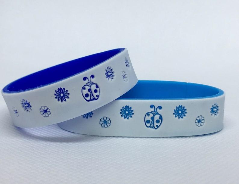 Ladybug Bracelet with Emergency Contacts Ladybug Bracelets Sky Blue