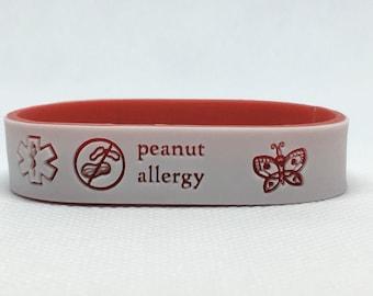 Allergy/Medical Bracelet + Design + Phone No, Allergy Emergency Bracelet + Fun Design, Medical Alert ID + Design,Multiple Alerts with Design