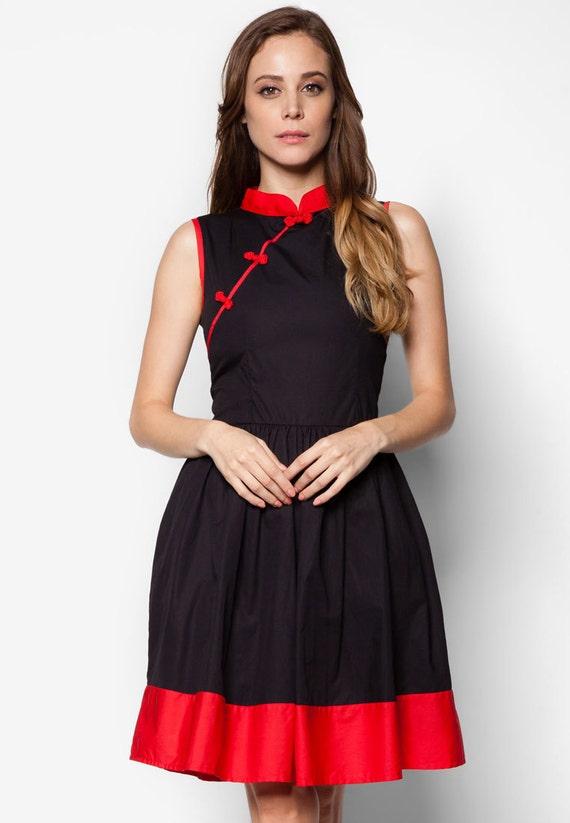 Qipao kleid schwarz