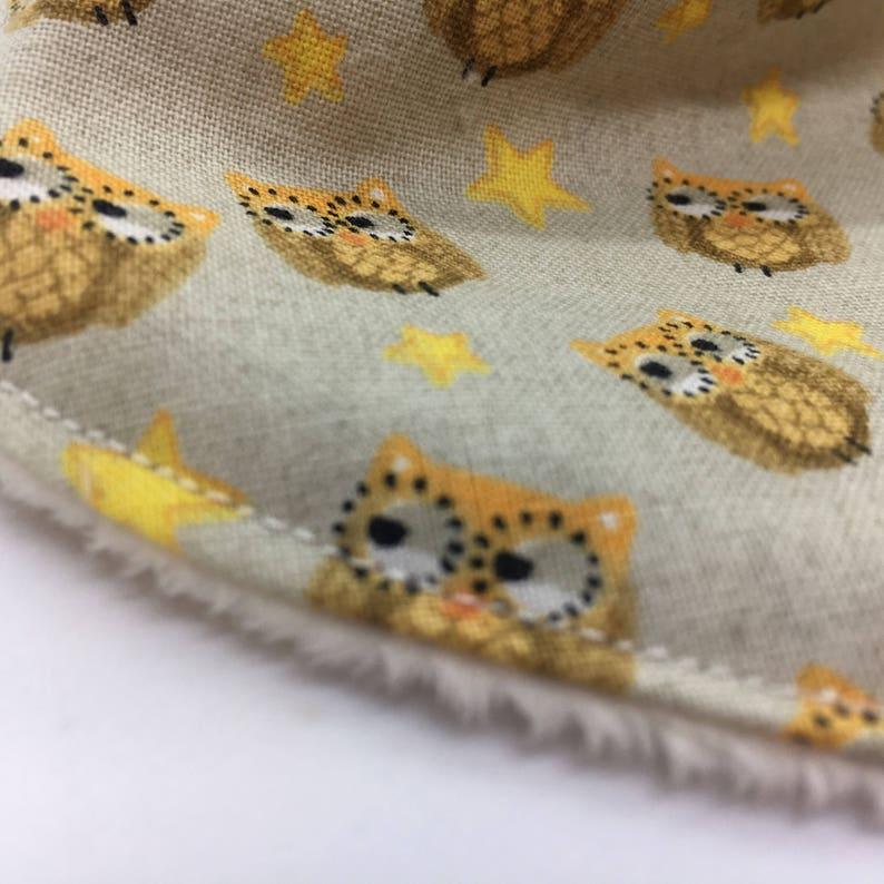 adjustable bib drool bib Bib,Dribble owl woodland baby gift