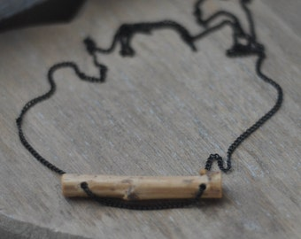 wooden necklace  •   wood pendant  •  wood necklace