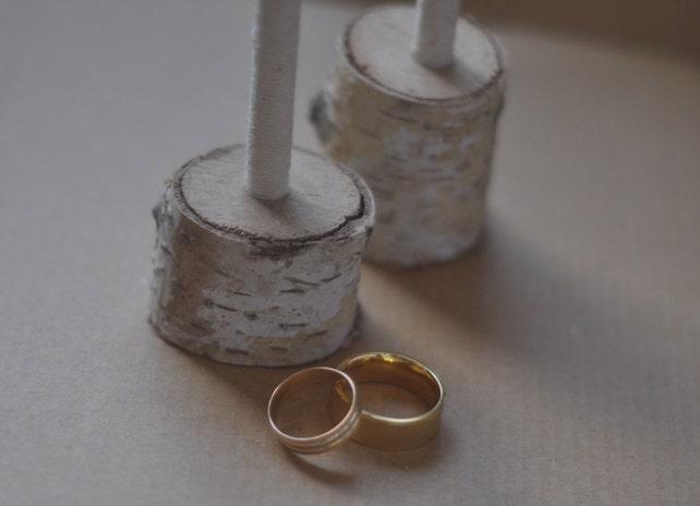 rustic birch branch guest book wedding pen&pensil holders • birch wood set of 2