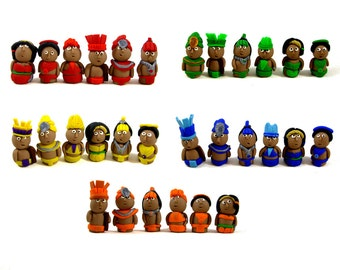 Tzolk'in Expansion tribesmen game pieces, set of 30 -- Replacement Worker Meeples