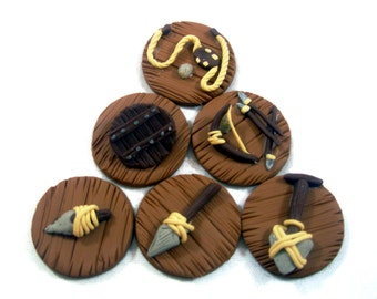 Robinson Crusoe Board Game Invention Tokens set of 38