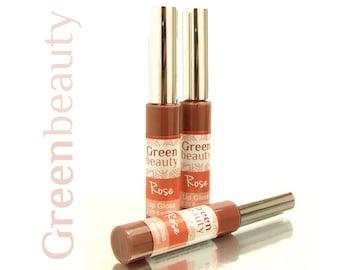 Lip Gloss, Rose, natural lip gloss, sheer lipgloss, mineral lip gloss, sheer lip color, liquid lip gloss, mineral makeup, natural makeup