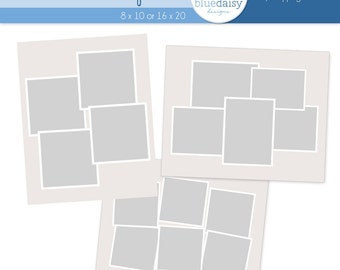 12 x 12 storyboard template four photos photoshop file for etsy