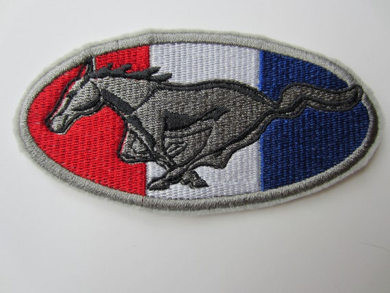 Red CAR CONVERTIBLE PATCH iron-on embroidered automobile emblem applique