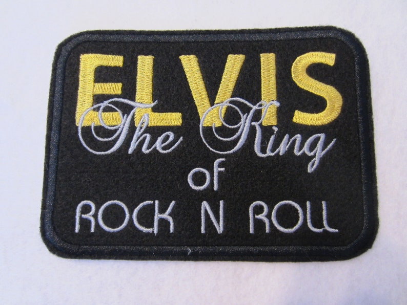 Rock And Roll Patch The King Patch The King Of Rock N Roll