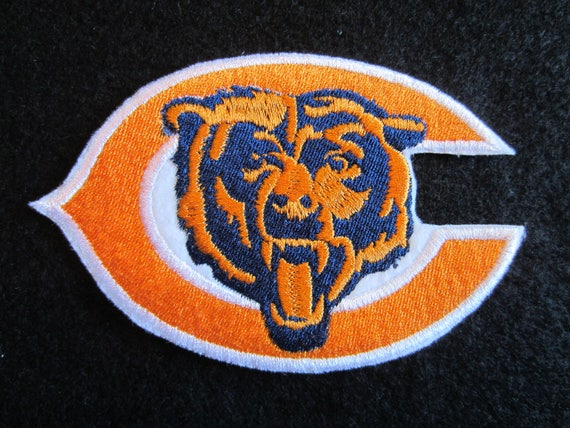 Embroidered Chicago Bears Logo Iron On Patch Chicago Bears Etsy
