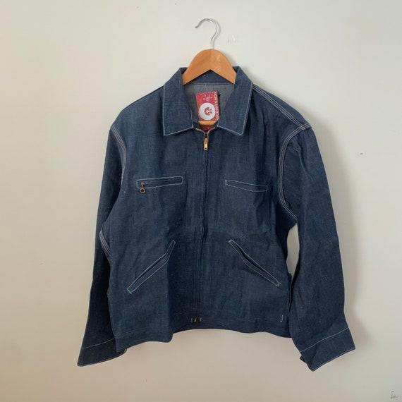 1960's 1970's Oshkosh Denim Work Jacket / Chore Co