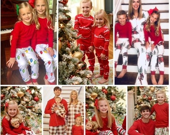 798a8bbe44 Christmas 2019 **PJ PREORDER** Child Toddler Personalized Family Pajamas, Holiday  Pajamas