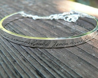 BLACK FRIDAY SALE - Extra-Thick Wide Heirloom Quality Custom Sterling Silver Stamped Clasped Cuff Bracelet - Your Own Message Hand Stamped I
