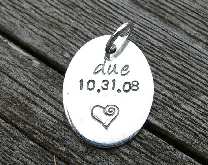 Add a Small Oval Tag to Your Birth Designs Necklace