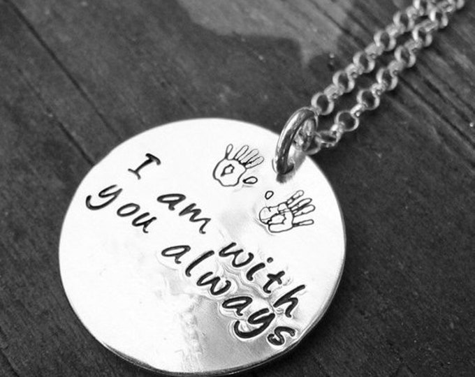 BLACK FRIDAY SALE - Custom Sterling 2-sided Thick Disc Necklace - Your Choice of 12 Fonts, 325 Symbols