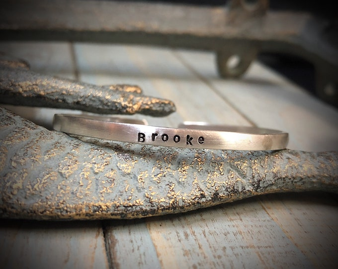 Custom Sterling Silver Baby Cuff - Classic Baby Bracelet - Rounded edges - Your own Message!  You Personalize - Font Choices- wonderful gift