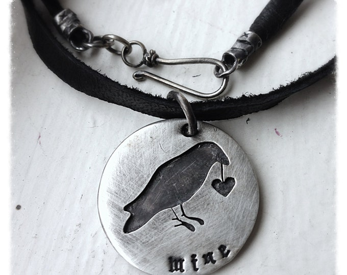 Any shape cut out and soldered - double disc, your phrase/words - solid sterling silver