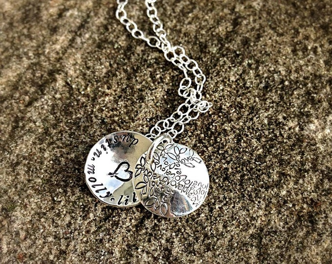 Tree of Love Family Swing Locket Pendant Necklace - solid sterling silver, customizable