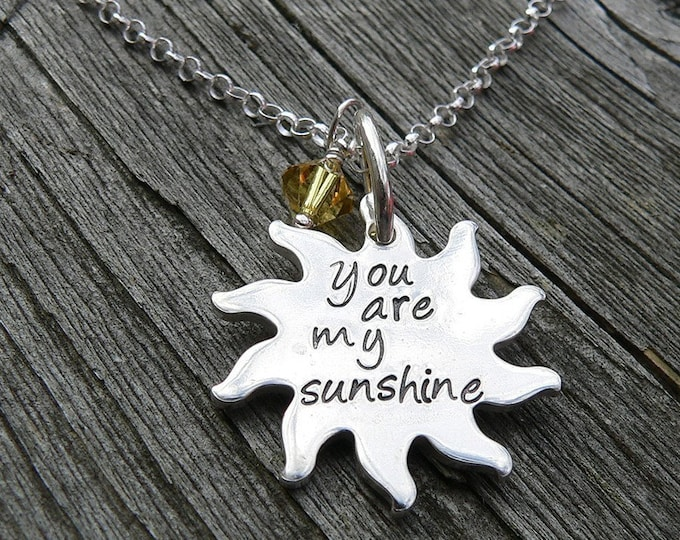 You Are My Sunshine...personalized sterling necklace