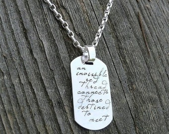 BLACK FRIDAY SALE - Custom Thick Sterling Silver Men's Dog Tag (Dogtag) Adoption Necklace Personalize with your own sentiment or use ours -