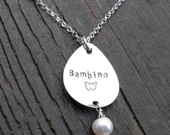 BLACK FRIDAY SALE - Custom Sterling Silver Remembrance or Loss Necklace
