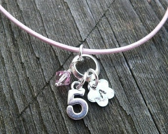 BLACK FRIDAY SALE - Little Girls Birthday (or Occasion) Necklace - sterling silver