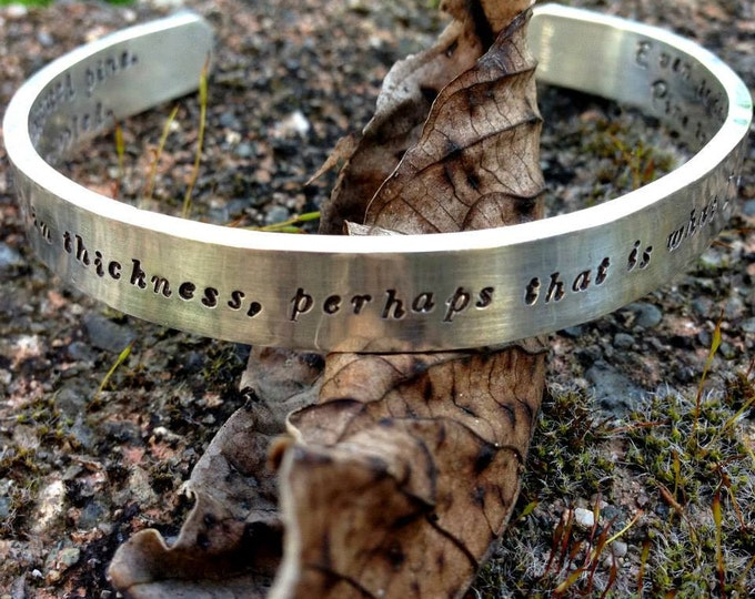 Heavy Sterling Silver Classic Cuff - Personalized with your Own Message or Words, Dates, Symbols - Beautiful Hand Stamped Forever Bracelet