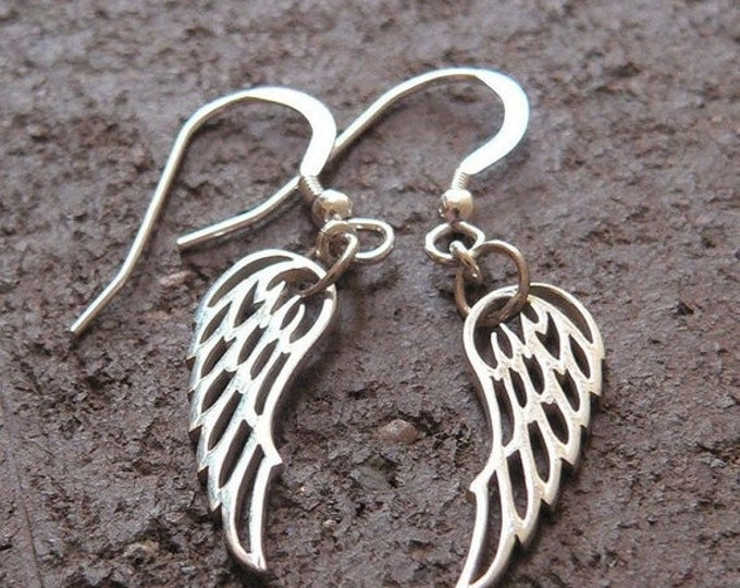 BLACK FRIDAY SALE - Detailed Wing Earrings - Solid Sterling Silver - Perfect and Classy Gift - Choice of Earwire or Leverback - Remembrance