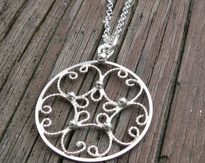 BLACK FRIDAY SALE - Everday Filigree.  A Sterling Necklace.