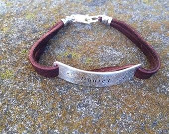 BLACK FRIDAY SALE - Boys Men or Unisex Sterling and Deerskin Classic Bracelet