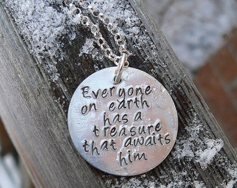 LIMITED TIME SALE Custom Sterling 2-sided Thick Disc Necklace - Your Choice of 12 Fonts, 235 Symbols