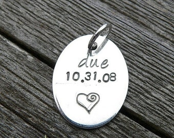 LIMITED TIME SALE Add a Small Oval Tag to Your Birth Designs Necklace