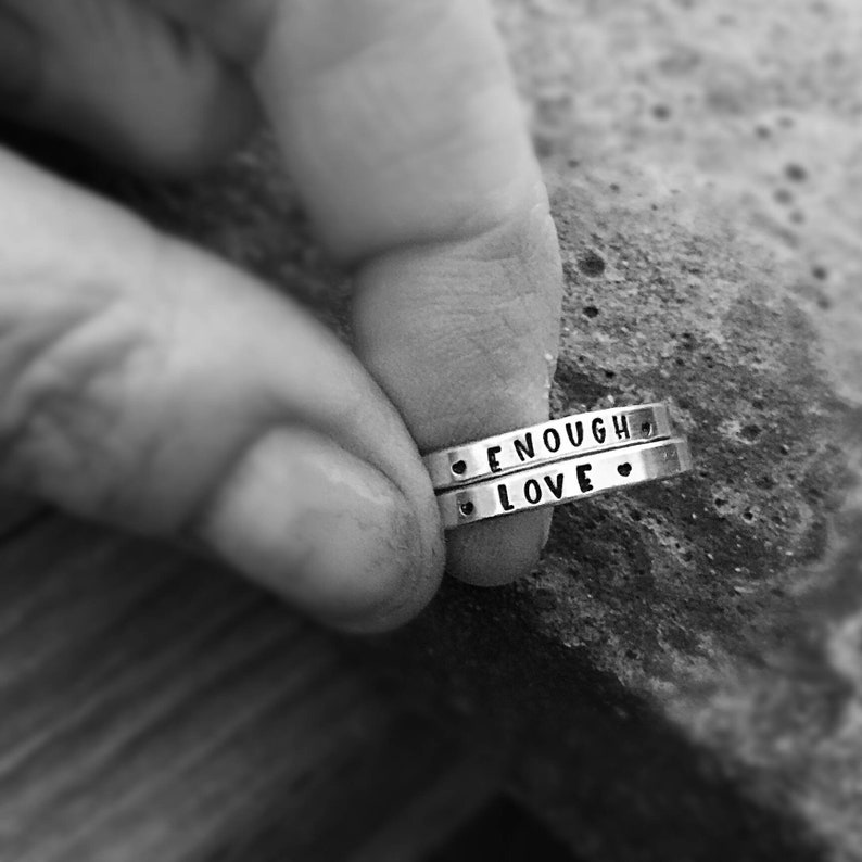 LIMITED TIME SALE Custom Hand Stamped Posey Ring Solid image 0