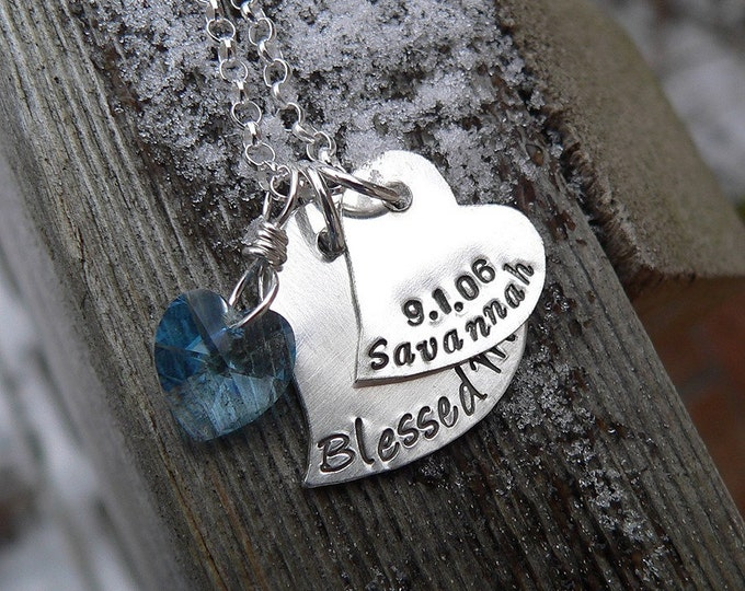 Falling Hearts Mother's Necklace