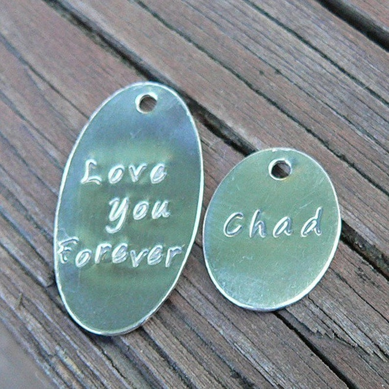 Add a Large Oval Tag to Your Birth Designs Necklace image 0