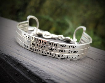 Rustic Sterling Silver 3-Tier Cuff - Personalized - Your Own Message and Font - Hand Stamped Inside or Outside - Unique & Great Gift -
