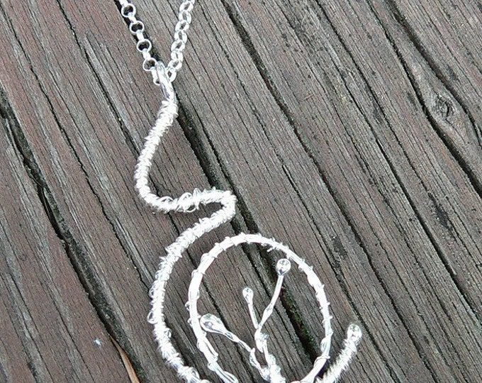 Seeded Womb. A pregnancy necklace. Hand Forged Sterling Silver, Each One Unique, Choice of Finish and Length. Midwife or Doula Gift.