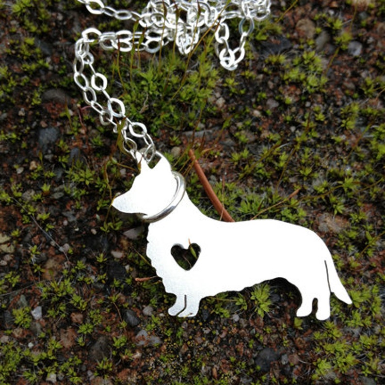 Petite Detailed Solid Sterling Silver Shape Necklace  Pet  image 0