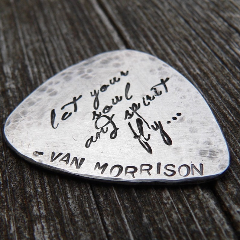 Hand-finished Solid Sterling Silver Guitar Pick  playable  image 0