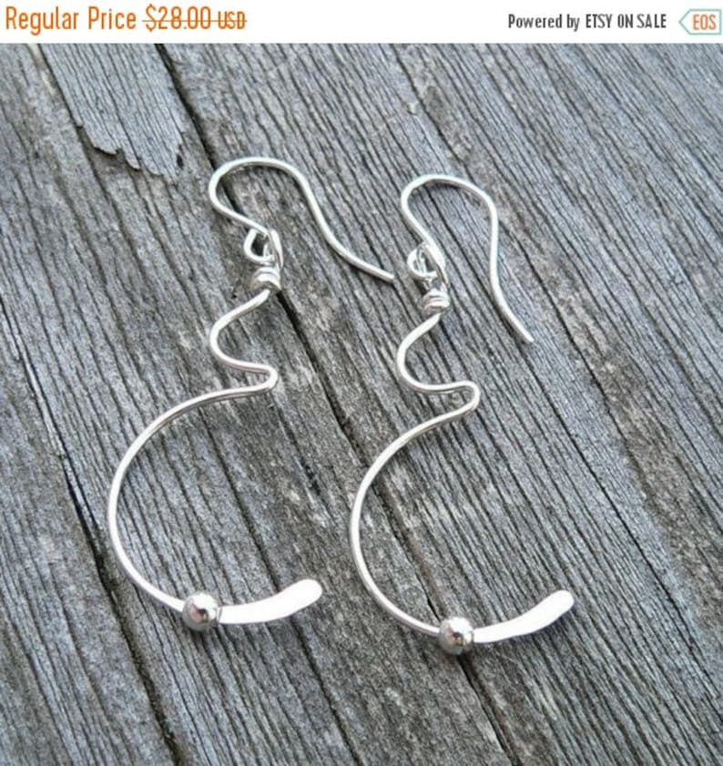 Tiny Movement Solid Sterling Silver Pregnancy Earrings  image 0