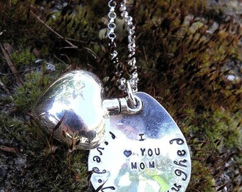 LIMITED TIME SALE Custom Sterling Silver Remembrance or Loss Necklace - Vessel Urn - Memorial Jewelry - Ashes Holder - Font Choices - Your M