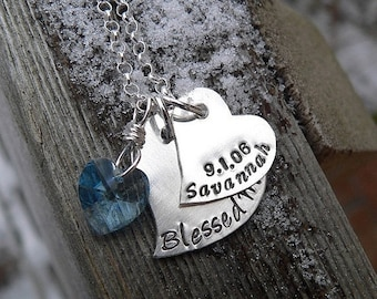 LIMITED TIME SALE Falling Hearts Mother's Necklace