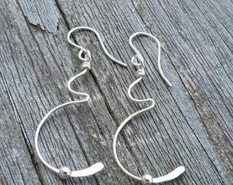 LIMITED TIME SALE Tiny Movement Solid Sterling Silver Pregnancy Earrings - Birth, Baby, Mom, Newborn, Midwife Gift, Doctor Gift, Choose Ear