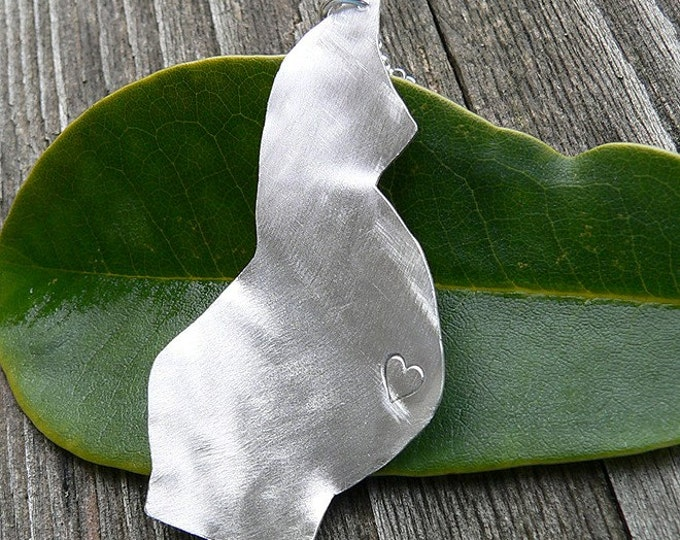 Esperanza. Birth Jewelry. Solid Sterling Silver - Hand Forged and Hand Sawn Pendant - Gorgeous Unique Gift for Moms, Midwife, Doula, Doctor