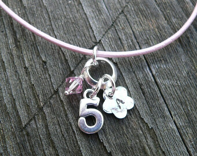 Little Girls Birthday (or Occasion) Necklace - sterling silver