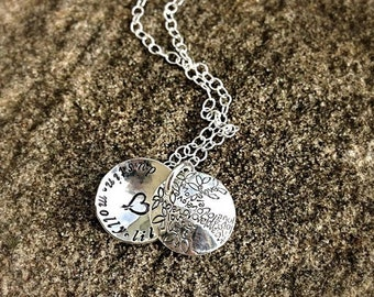 LIMITED TIME SALE Tree of Love Family Swing Locket Pendant Necklace - solid sterling silver, customizable