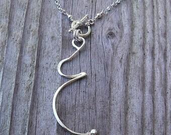 LIMITED TIME SALE Hip Mama - A Pregnancy or Birth Necklace.  Solid Sterling Silver with Genuine Gemstone Birthstone, Swarovski Crystal, or F