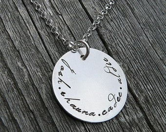 LIMITED TIME SALE Poetry Family Pendant...Custom Sterling Necklace