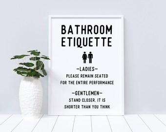 Bathroom etiquette | Etsy